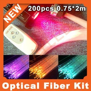 wholesale,high brightness,0.75mm*200pcs RGB optic fiber kit