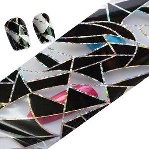 Image 5 - Adornos de decoración para uñas transferencia pegamento láminas pegatina adhesivo de uña pegamento calcomanías Glitter manicura herramientas LAXK11, 100cm x 4cm