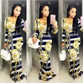 2016 Verão maxi vestido Tradicional Africano Dashiki Imprimir longo Vestido Dashiki Elastic Bodycon elegante Vestidos vintage