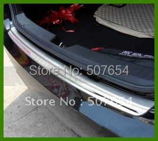 High quality stainless steel car Rear Bumper FootPlate,rear trunk foot protection bar for Hyundai Sonata YF 2011-2014 car rear trunk security shield cargo cover for volkswagen vw tiguan 2016 2017 2018 high qualit black beige auto accessories