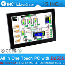 15 inch Dual 1000Mbps Nics LPT All in One Desktop Computer with 5 wire Gtouch 4: 3 6 COM 4G RAM 32G SSD