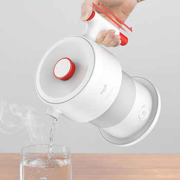 Xiaomi Deerma Folding Electric Kettle 0.6L Travel Portable Water Kettle Handheld Water Flask Pot Auto Power-Off Protection Pot