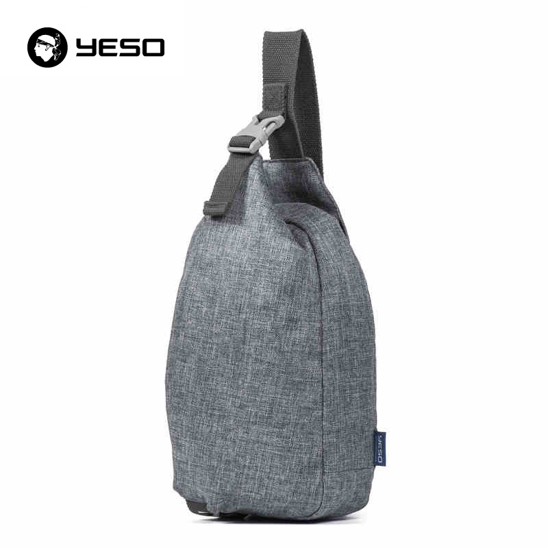 YESO New Design Casual Chest Bag Waterproof Oxford Crossbody Sling Bag 2018 Fashion Motorcycling Lightweight Chest Pack Unisex