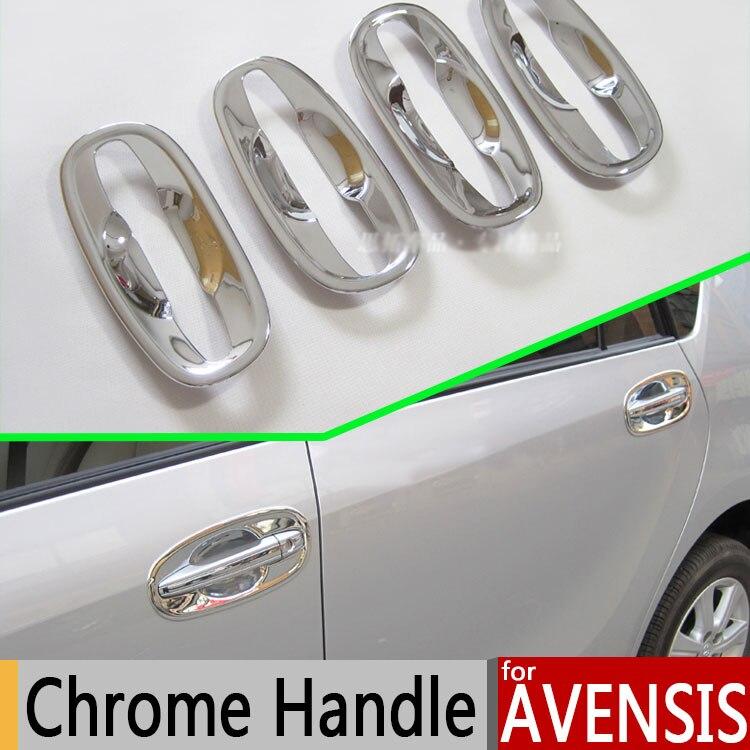 Pour Toyota Avensis 2009-2016 Chrome Manche De Porte Accessoires Autocollants De Voiture Styling Corolla 2010 2011 2012 2014 2015