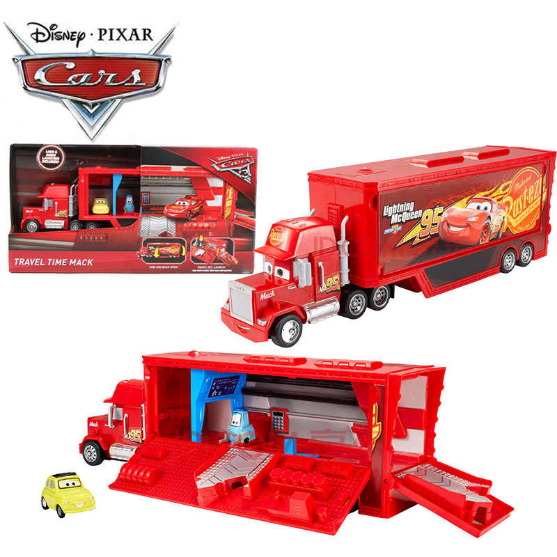 OUT OF STOCK Disney Pixar Cars Toys Pixar Cars 3 Travel Time Mack with Guido Luigi Launcher Play Set Lightning McQueen Car Toys