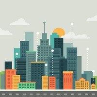 클라우드 시티 스카이 라인 테마 슈퍼 영웅 도시 배트맨 배경 비닐 천으로 고품질 컴퓨터 인쇄 벽 사진 배경