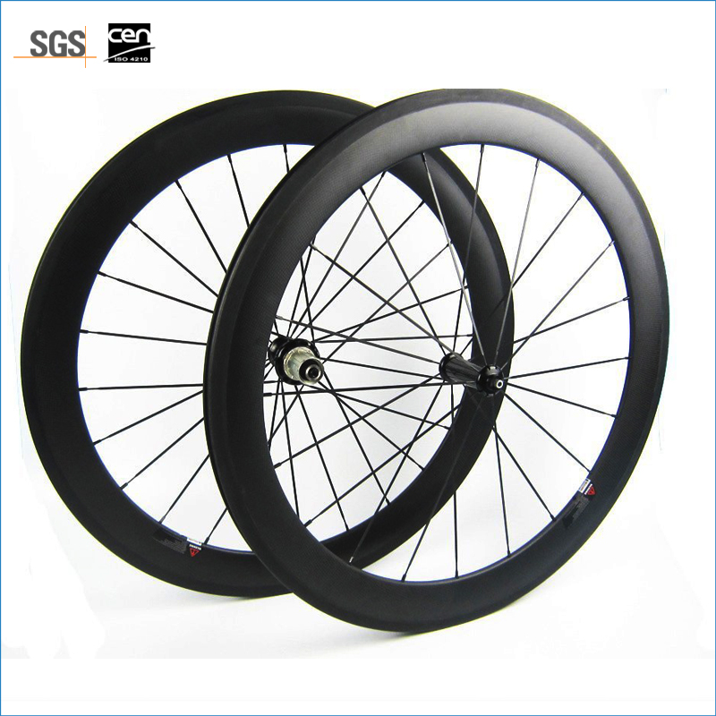 7-tiger carbon wheels clincher or tubular <font><b>700c</b></font> <font><b>rims</b></font> carbon bicycle 60mm wheels road bike 88mm steering-wheel image