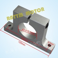 43mm Euro Aluminium Neck Spindle Mount Bracket Clamp Spindle Motor Holder