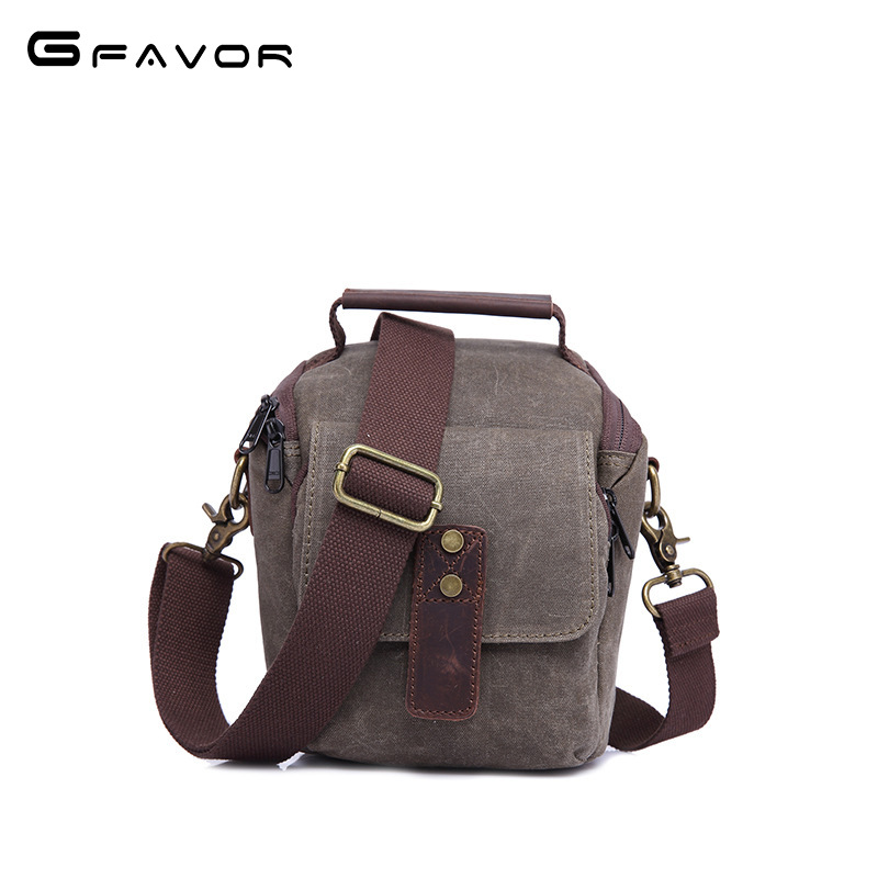 2018 New Vintage Canvas Camera Bag Men Multifunction Travel Bag SLR Camera Messenger Bags Male Waterproof Shoulder Crossbody Bag high quality men canvas bag vintage designer men crossbody bags small travel messenger bag 2016 male multifunction business bag