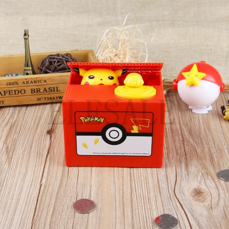 Image 2 - New Cute Pokemon Auto Steal Coin Piggy Bank Electronic Plastic Money Safety Box Coin Bank Saving Box For Kids Birthday Giftbox brandbox coinbox box -