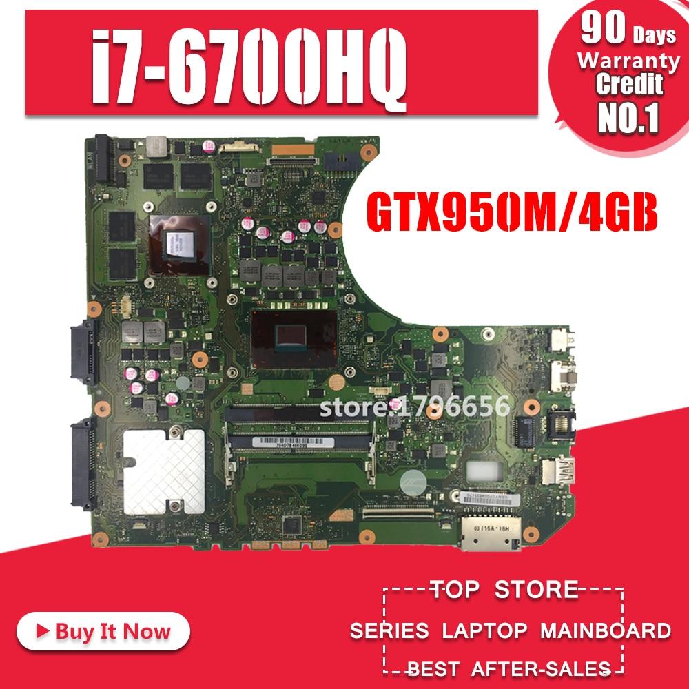N552VW N552VX Motherboard For ASUS N552VW N552VX N552V N552 Laptop Motherboard Mainboard Test Ok GTX950M/4Gb I7-6700HQ