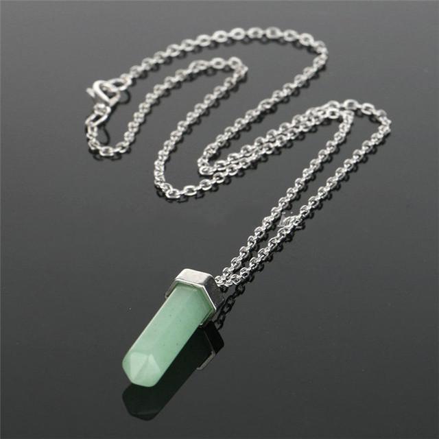 Naruto Maxi Chakra Healing Natural Quartz Stone Long Crystal Pendant