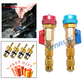 2pcs  Auto Car Air Conditioning Schrader Valve Core Quick Remover Installer High Low Pressure Side R134a R12 Repair Tools