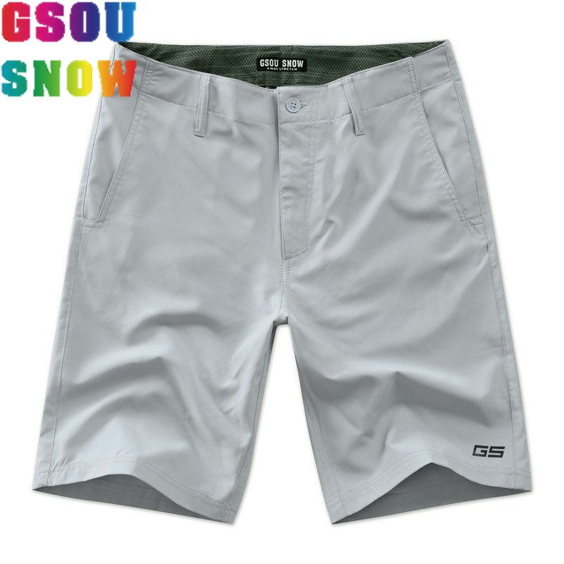 GSOU SNOW Brand Beach   Shorts   Men   Board     Shorts   Summer Swimwear Plus Size Surfing Swimming Diving Mens Swim Trunks Boardshort