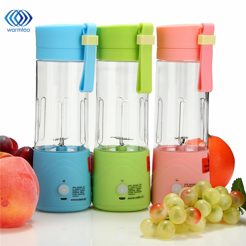 USB Electric Fruit Juicer Machine Mini Portable Rechargeable Smoothie Maker Blender Shake And ...