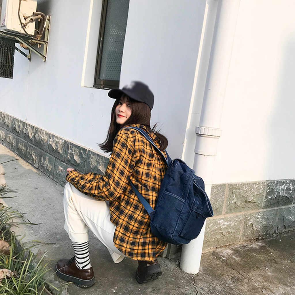 Простой повседневный джинсовый женский рюкзак с ручкой джинсы женский туристический рюкзак женский ковбойский школьный рюкзак дизайн подростковый рюкзак
