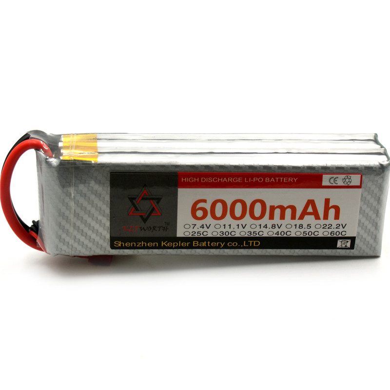 <font><b>5s</b></font> 18.5V RC <font><b>6000mAh</b></font> <font><b>Lipo</b></font> Battery Car Plane Boat Lithium Ion Polymer Battery For Truck Tank Drone Helicopter image