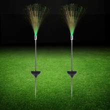 2PCS Multi-color Lawn Garden Light tuinverlichting Waterproof Solar Power LED Fiber Optic Light Garden Yard Path Lawn Lamp(China)
