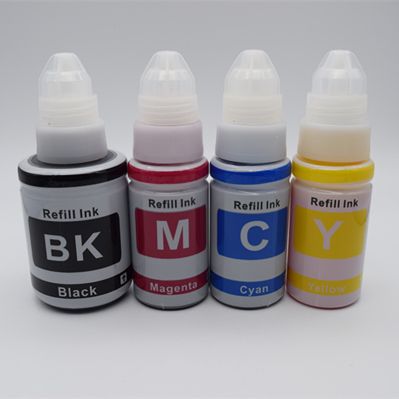 4 Pcs Refill Dye Ink Kit Kits BK 135ML C/M/Y 70ML Special For Canon Refillable Inkjet Printer Dedicated g1800 g2800 g3800