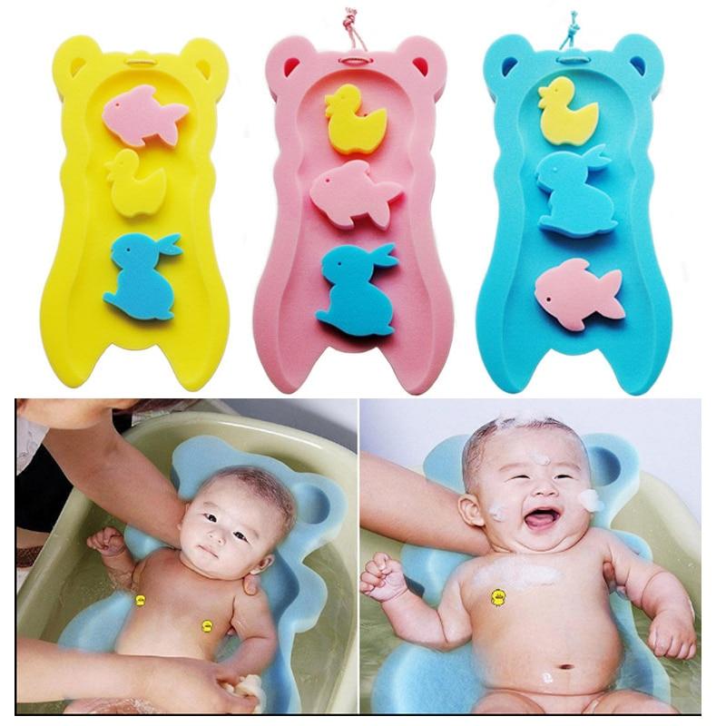 Baby Shower Sponge Cushion + Toy Sponges, Baby Bath Mat Holder Foam ...