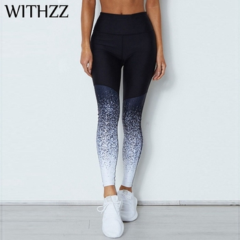 WITHZZ Star Print Leggings New Arrival Women Workout Jeggings Sporting Athleisure Active Wear Sportleggings Elasticity Pants