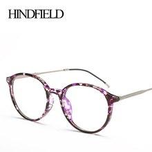HINDFIELD ретро унисекс круглый TR90 оправа для очков Винтаж очки Брендовые дизайнерские прозрачные линзы очки для компьютера рамка