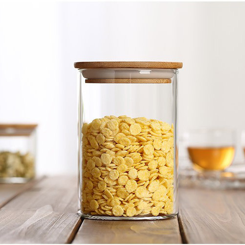 Storage Shipping Container Homes: M Size Bamboo Lid Glass Jars For Food Storage Heat