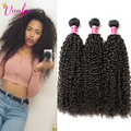 3 Bundles Malaysian Virgin Hair Kinky Curly Weave Human Hair Bundles Dark Light Brown Malaysian Afro Kinky Curly Hair Extension