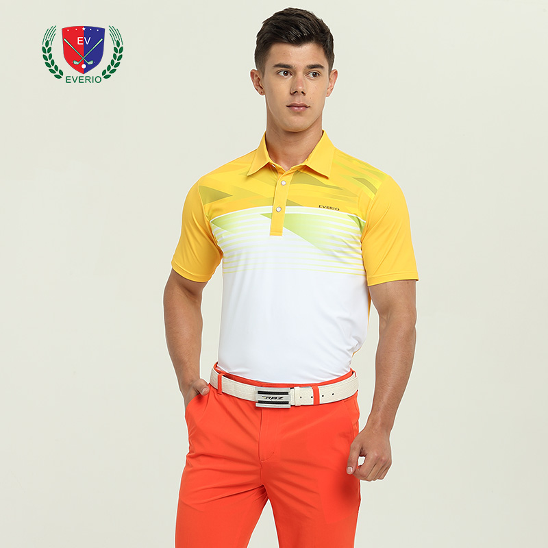 Summer mens golf T-shirt Men stitching golf POLO shirt quick-drying Tops breathable wicking sports short-sleeved T-shirt