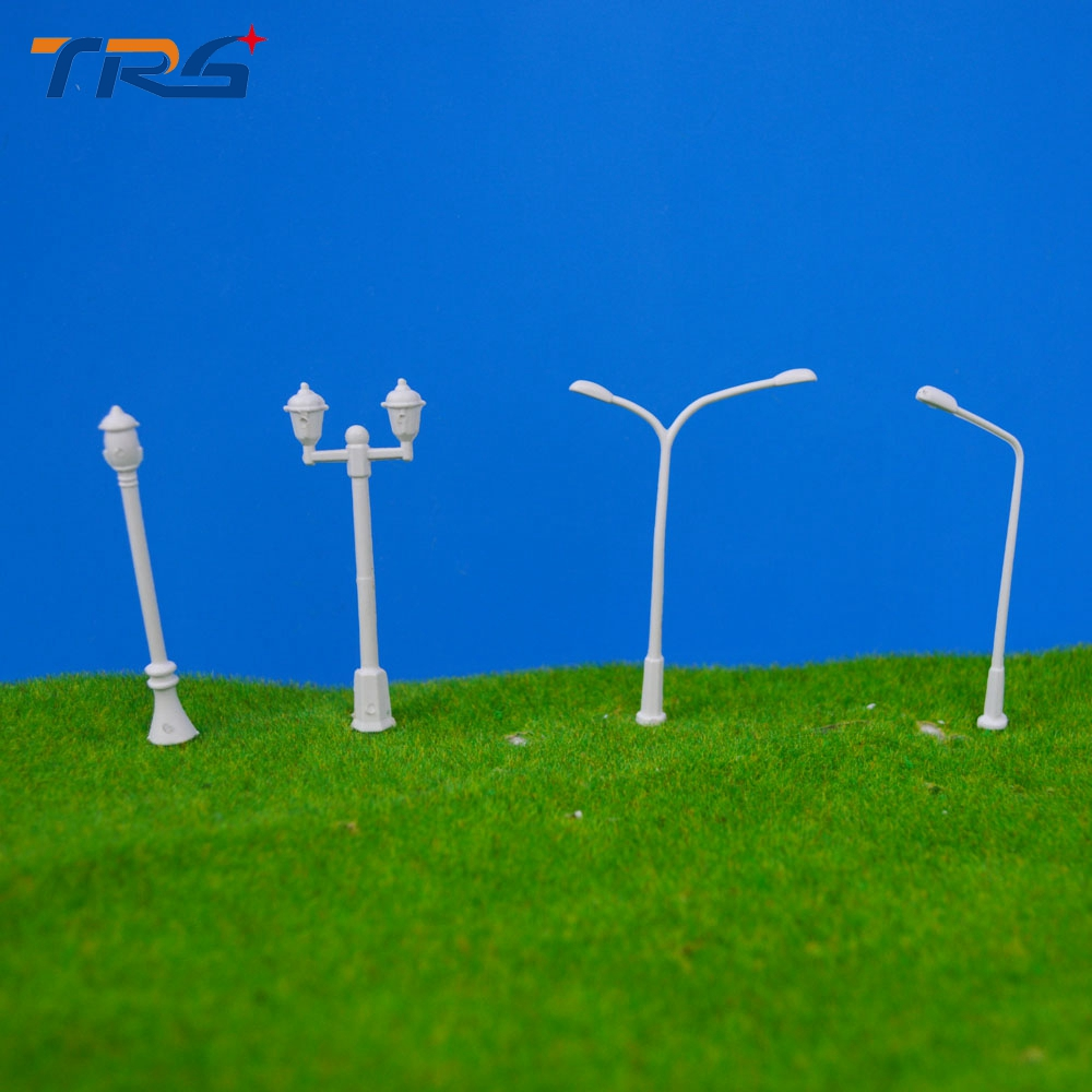 Teraysun 400 Pcs/Lot 4 types Streets Lamp Model Scale 1:500 Plastic Lamppost Model Railway Street Light