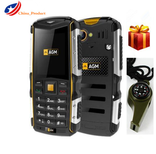 Gift 24 Hours Shipping AGM M1 IP68 Waterproof 2 0 3G Mobile Phone 2 0MP 2570mAh