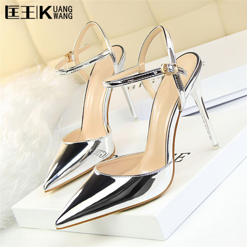Sexy Point Toe Patent Leahter High Heels Pumps Shoes 2017 Newest Woman's Red Sandals Heels Shoes Wedding Shoes Zapatos Mujer bigtree 2017 sexy pearl metal point toe patent leahter high heels pumps shoes woman s red sandals heels shoes wedding shoes k109