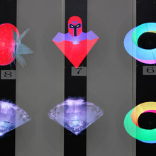 3D Hologram Advertising Display Light with 150 Degree Holographic Imaging Naked Eye Fan Light for commercial Party station shop(China)