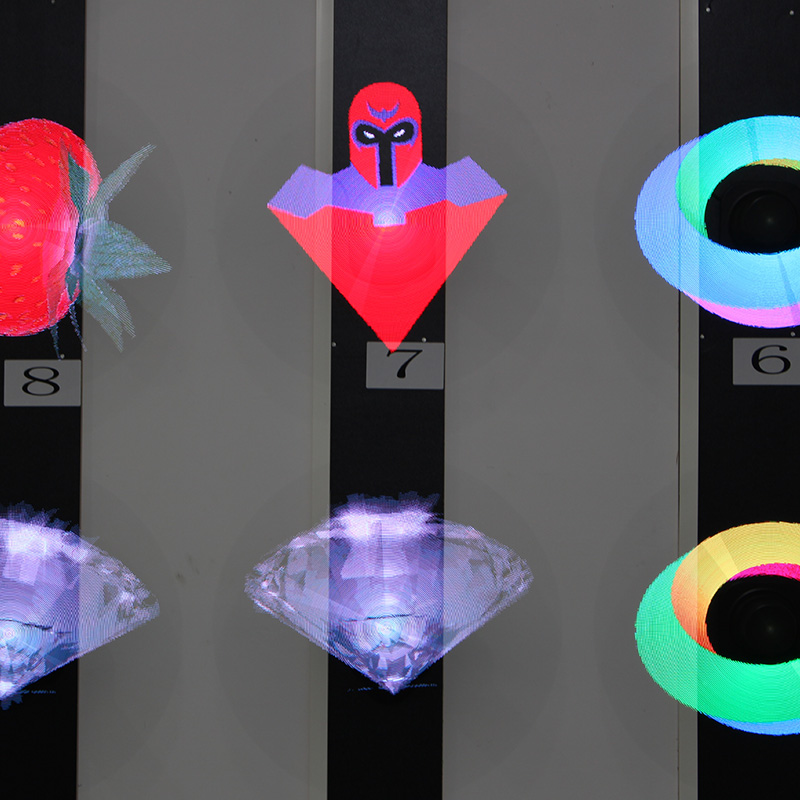 3D Hologram Advertising Display Light with 150 Degree Holographic Imaging Naked Eye Fan Light for commercial Party station shop