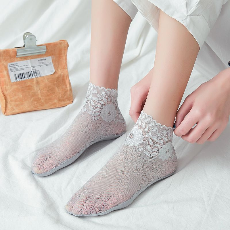 Women   Socks   1 Pair 2019 New Spring Woman Ankle   Socks   Girls Lace Breathabke Thin Solid Novelty Women Fashion   Socks   Lady