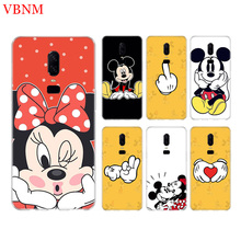 Mickey Mouse Funny New Phone Back Case For OnePlus 7 Pro 6 6T 5 5T 3 3T 7Pro 1+7 Art Gift Patterned Customized Cases Cover Coque