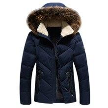 2017 nueva moda de invierno Abrigos de plumas chaqueta con capucha blanca del pato Abrigos de plumas moda abrigo Pieles de animales sombrero cuello Abrigos de plumas masculinas Parkas