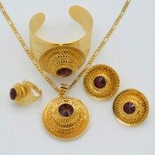 Anniyo Etíope de La Joyería Colgante de Color Oro Collar/Pendientes/Anillo/Brazalete de Eritrea Habesha Africano Regalos de Boda #047311