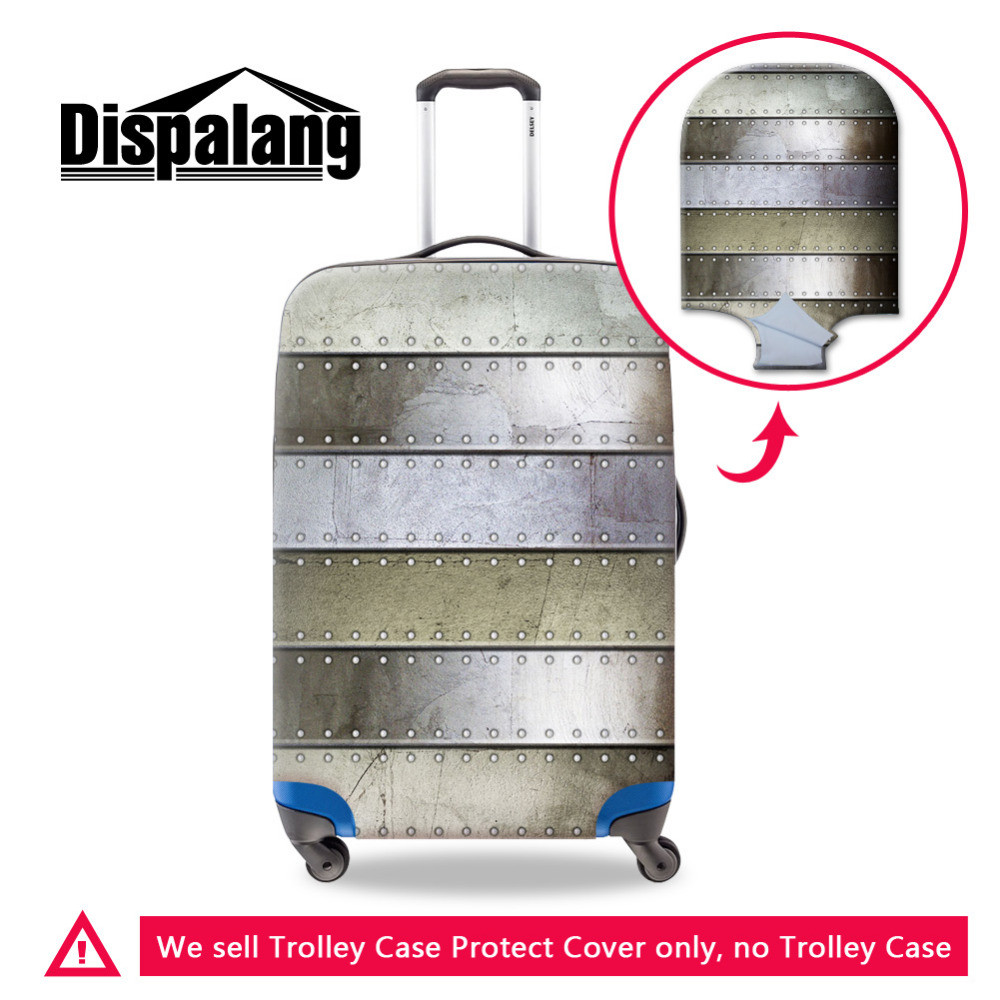 Dispalang Metal Pattern Travel Accessories Elastic Luggage Protective Covers Waterproof Suitcase Cover For 18 30 Inch