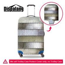 Dispalang металлический шаблон путешествия аксессуары эластичный багажа защитные чехлы водонепроницаемый чемодан крышка для 18-30 дюймов багажник случае
