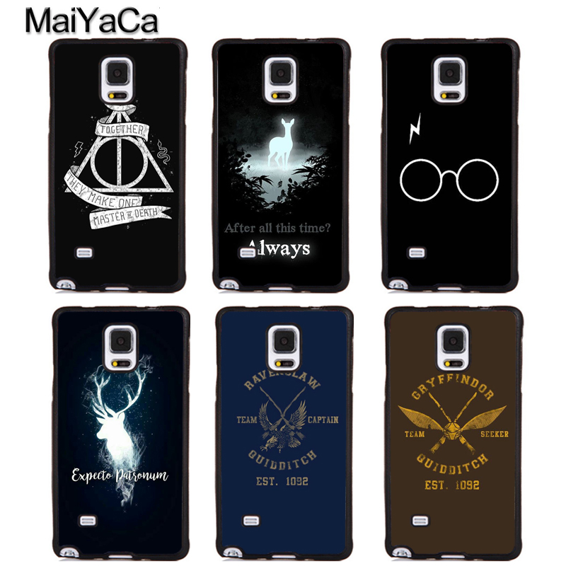 MaiYaCa Harry Potter Always Full Protective Phone Cases For Samsung Galaxy S5 S6 S7 edge Plus S8 S9 plus Note 4 5 8 Cover Shell