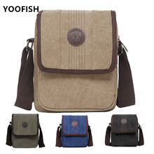 купить New Men's Fashion Travel Cool Canvas Bag Men Messenger Crossbody Bags Bolsa Feminina Shoulder Bags Pack School Bags for Teenager по цене 566.64 рублей