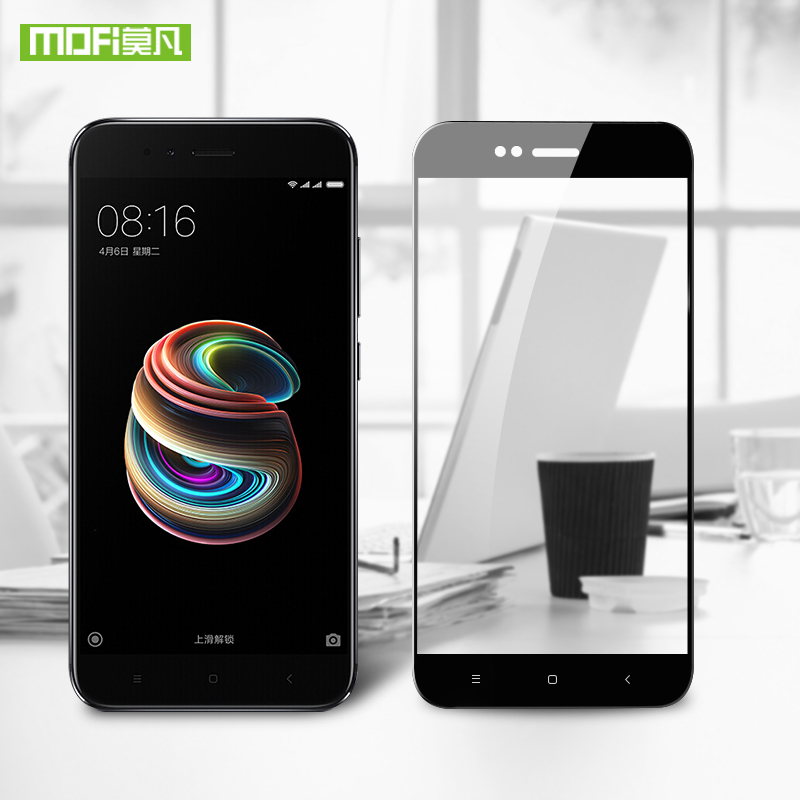 For Xiaomi mi a1 glass screen protector MOFI for xiaomi mia1 full cover xiaomi mi a1 5x glass 9h 0.3mm tempered 5.5 inch film