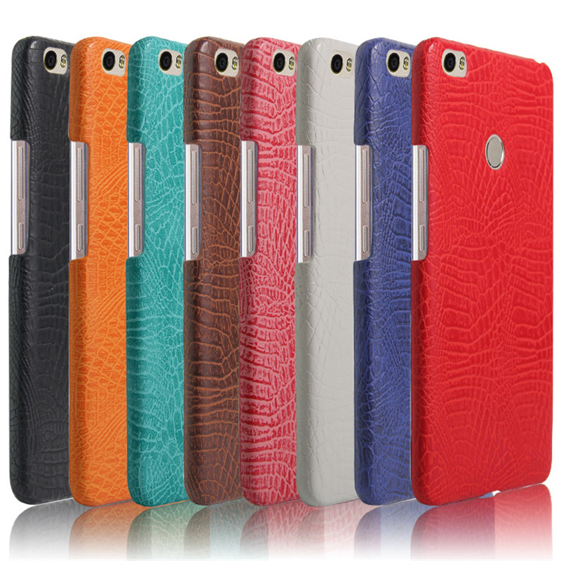 För Xiaomi Mi Max telefonväska fodral Lyxig krokodilskinn PU läder - Reservdelar och tillbehör för mobiltelefoner