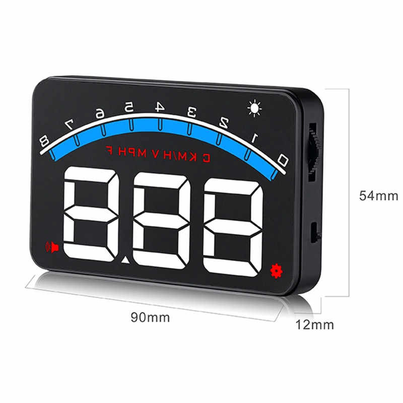 GEYIREN новый M6 HUD Дисплей автомобильный-Стайлинг Hud Дисплей превышение скорости Предупреждение лобовое стекло проектор сигнализация Система Универсальный Авто M6