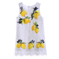Pettigirl New Girl Tank Dress Summer Lemon Patterns Girls Dresses for Kids Girls Clothes GD90314-699F