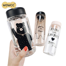 350 ML/500ML Creative Fashion Portable Leakproof Cycling Water Bottle Impregnable Plastic Kettle First-class Quality