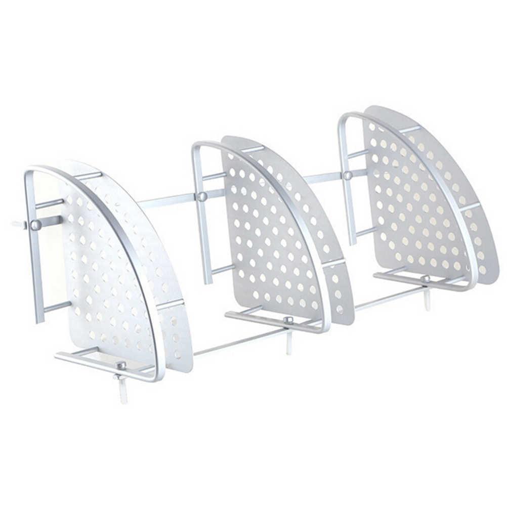 Wysokiej jakości aluminium półka łazienkowa 3 kondygnacje kąpieli półka po prysznic do kąpieli uchwyt na szampon uchwyt na kosz półka narożna Chrome łazienka produkt