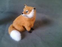 simulation fox 16x15cm model toy polyethylene & furs brown fox model,decoration birthday gift t324