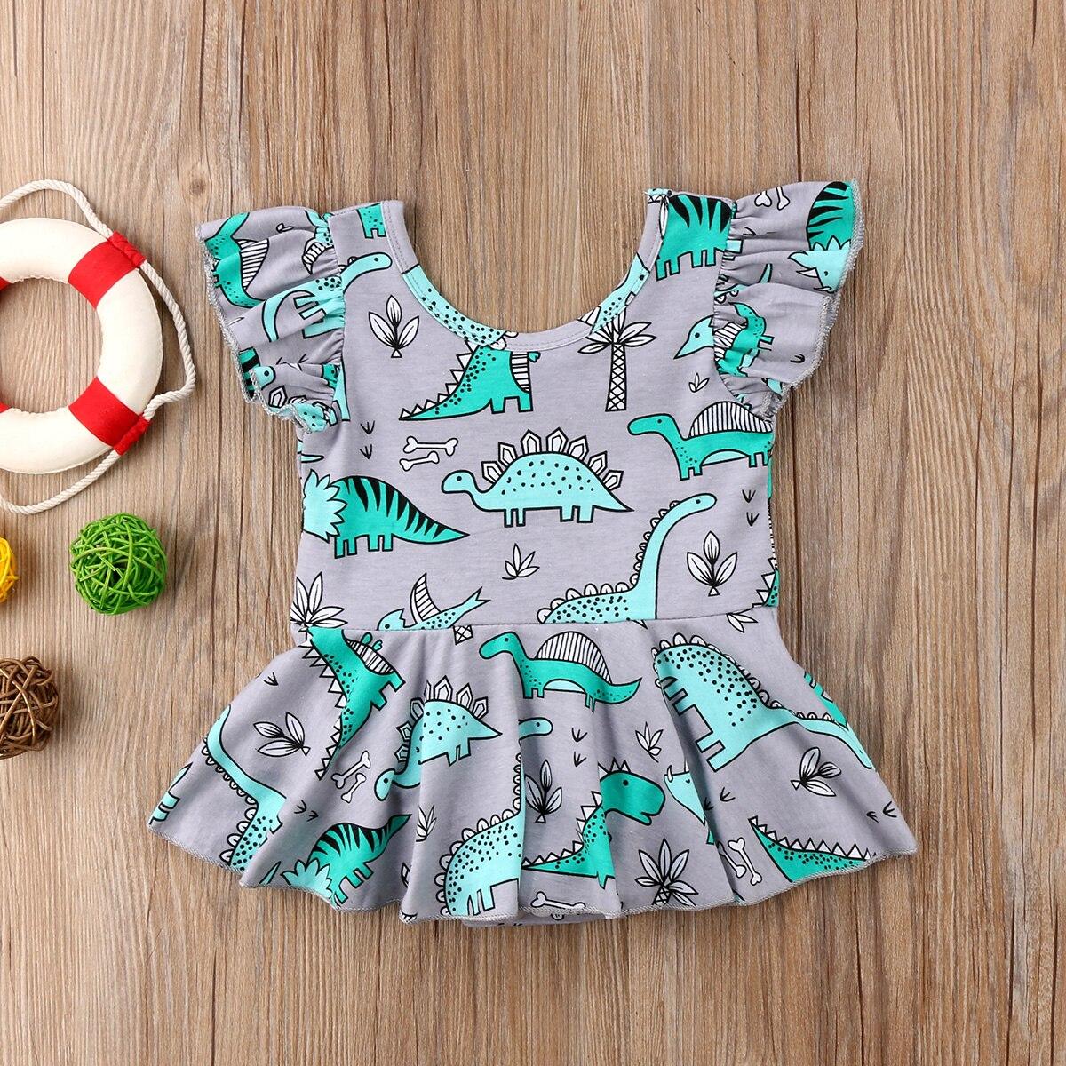 Infant Kids Baby Meisje Dier Romper Jurken Print S Oft Comfatable Outfits Casual 0-24 M Yu Te Koop